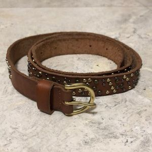 JCrew studded leather belt